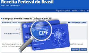 Como consultar situação cadastral CPF?