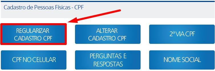 Regularizar Cadastro de Pessoas Físicas - CPF