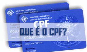 O que é o CPF