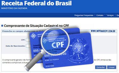 Como fazer a consulta da situação cadastral CPF