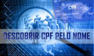 Como descobrir CPF pelo nome