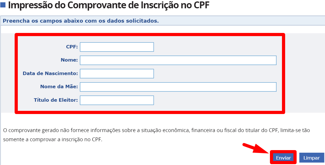 2 via CPF - Regularizar CPF