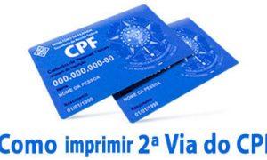Como Imprimir 2ª Via do CPF Pela Internet