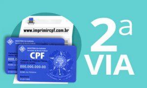Emitir 2 via CPF pela Internet